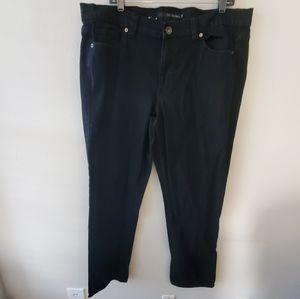 Calvin Klein black denim skinny jeans plus size 18